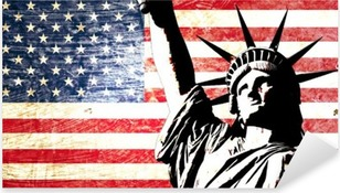 Naklejka Pixerstick Flaga USA Statua Wolności