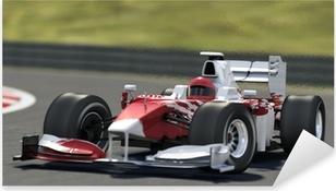 Naklejka Pixerstick Formuła jeden wyścig samochodowy