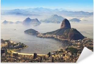 Naklejka Pixerstick Głowa Cukru, Rio de Janeiro, Brazylia