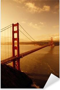Naklejka Pixerstick Golden Gate Bridge, San Francisco, Kalifornia