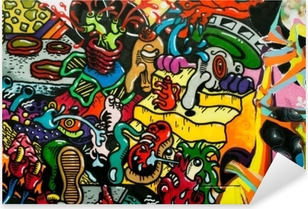 Naklejka Pixerstick Graffiti art urbain