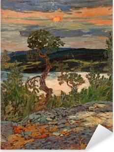 Naklejka Pixerstick Helmer Osslund - Wieczór w Ångermanland