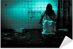 Naklejka Pixerstick Horror czy Scary Scene
