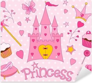 Naklejka Pixerstick Ikony Sweet księżniczka