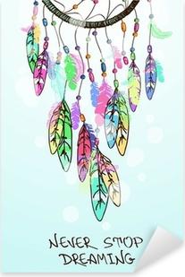 Naklejka Pixerstick Ilustracji z Indianie Dreamcatcher