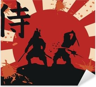 Naklejka Pixerstick Japonia samuraj