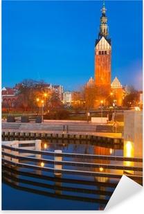 Naklejka Pixerstick Katedra Świętego Mikołaja w starym mieście Elbląg, Polska