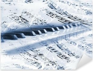 Naklejka Pixerstick Klawisze fortepianu z nut
