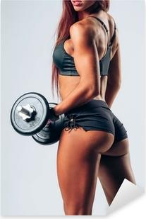 Naklejka Pixerstick Kobieta fitness