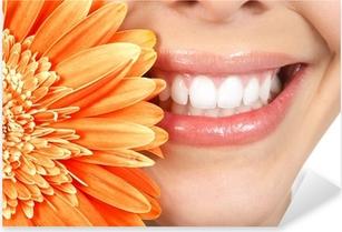 Naklejka Pixerstick Kobieta zębów