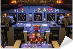 Naklejka Pixerstick Kokpicie symulatora lotu domowej roboty - Boeing 737-800