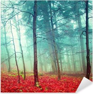 Naklejka Pixerstick Kolorowe jesienne drzewa mistyczne