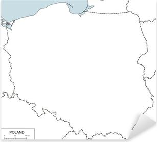 Plakat Kontur Mapy Polski Pixers żyjemy By Zmieniać