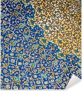 Naklejka Pixerstick Kopuła meczetu, orientalne ornamenty z Isfahan, Iran