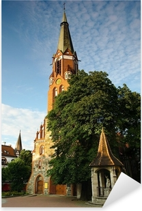 Naklejka Pixerstick Kościół św Jerzego w Sopocie.