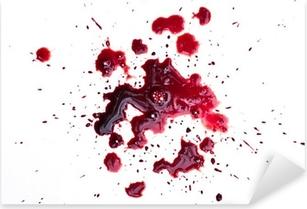 Naklejka Pixerstick Kroplówki krwi na białym