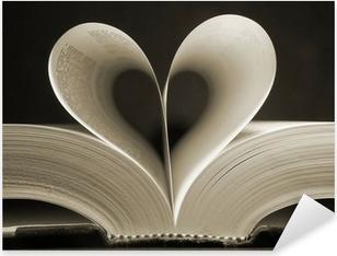 Naklejka Pixerstick Książka w kształcie serca