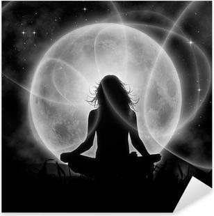 Naklejka Pixerstick Księżyc medytacja