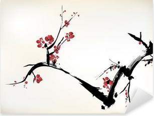 Naklejka Pixerstick Kwiat malowanie