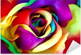 Naklejka Pixerstick Kwiat róży fałszywe