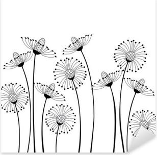 Naklejka Pixerstick Kwiaty polne