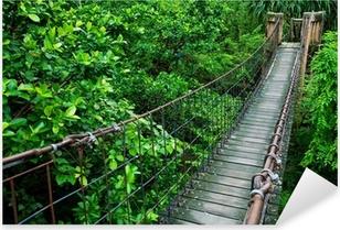 Naklejka Pixerstick Lina przejścia przez napowietrzna w lasach tropikalnych