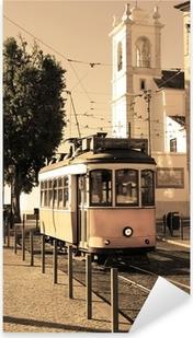 Naklejka Pixerstick Lizbona tramwaj