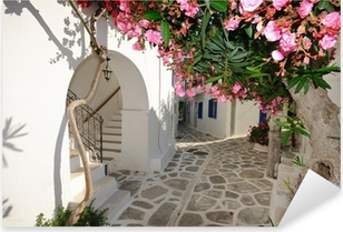 Naklejka Pixerstick Małe Backstreet na Amorgos Island, Grecja