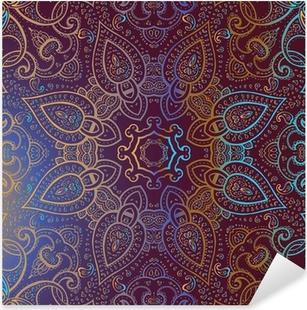 Naklejka Pixerstick Mandala. indian wzór dekoracyjny.