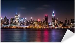 Naklejka Pixerstick Manhattan panorama podczas weekendu dumy