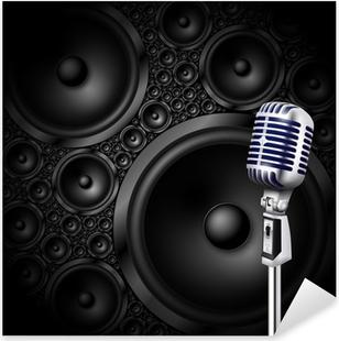 Naklejka Pixerstick Mikrofon / głośnik