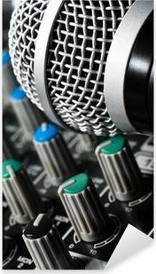 Naklejka Pixerstick Mikser dźwięku z mikrofonu