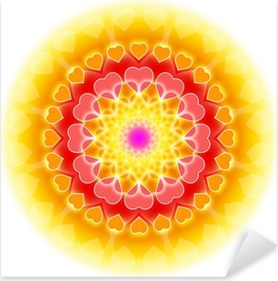 Naklejka Pixerstick Miłość Mandala 01 - Kwitnienie Serca