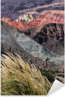 Naklejka Pixerstick Montañas en Salta, Argentyna