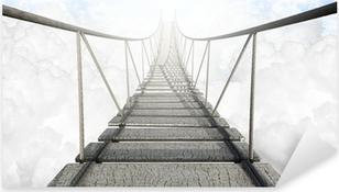 Naklejka Pixerstick Most linowy nad chmurami