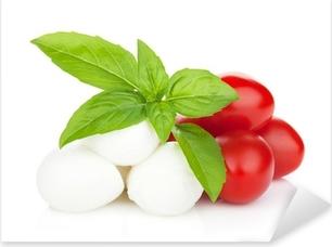 Naklejka Pixerstick Mozzarella z pomidorami i bazylią