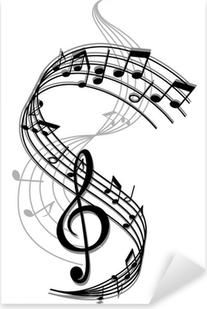 Naklejka Pixerstick Muzyka w tle abstrakcyjna sztuki