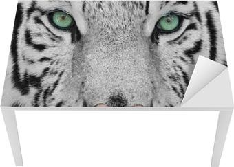 Naklejka na biurko i stół Biały tygrys