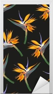 Naklejka na drzwi Kwiaty dżungli bez szwu