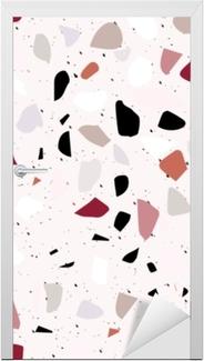 Naklejka na drzwi Lastryko wzór. abstrakcyjne tło