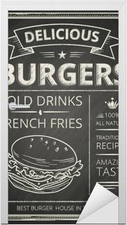 Naklejka na drzwi Plakat z burgerami