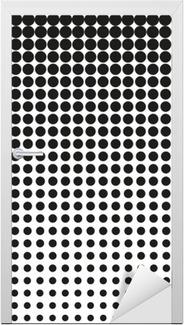 Naklejka na Drzwi Streszczenie półtonów. Czarne kropki na białym tle. Półtonów. kropki rastra wektorowe. półtonów na białym tle. Tło dla projektu