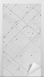 Naklejka na drzwi Symbole świętej geometrii i elementy tła