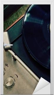 Naklejka na drzwi Vintage gramofon z płytą winylową