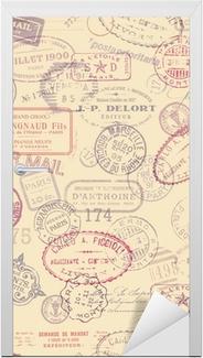 Naklejka na drzwi Wysyłka wrażeń tła z rocznika znaczków (dachówka)