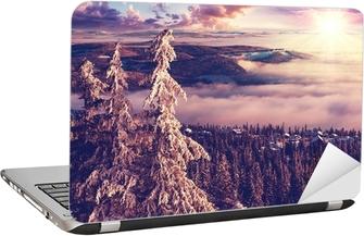 Naklejka na laptopa Zima w Norwegii