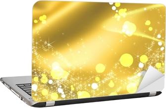 Naklejka Na Laptopa Złoty Wstążki I Oświetlenie Pixers