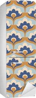 Naklejka na Lodówkę Jednolite rocznika wzór kwiatów
