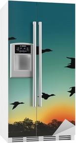 Naklejka na lodówkę Oiseaux_migrateurs