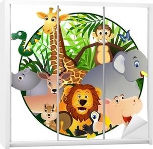Naklejka na szafę Cartoon Safari